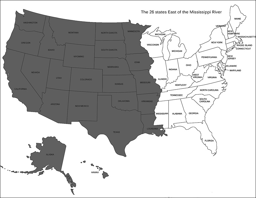 The States East Of The Mississippi Presented By Prophoto Blog - Map of us east of mississippi river