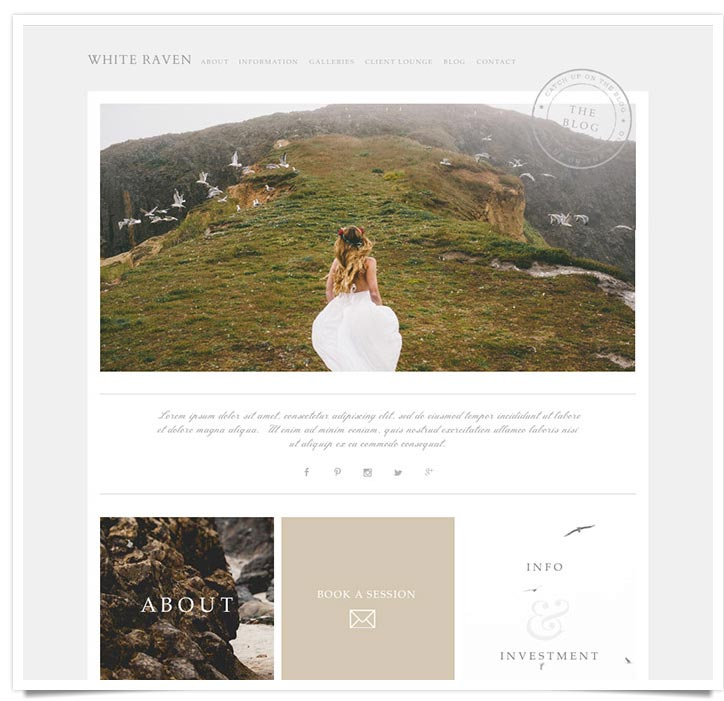 Just released White Raven for the ProPhoto 5 wordpress Blog