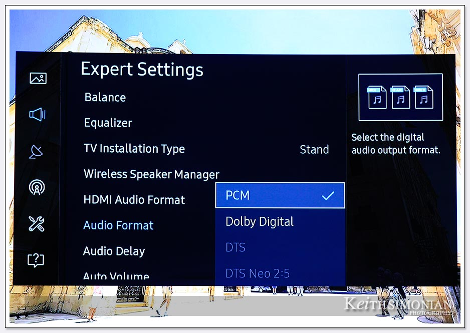 How to make change to sound output on Samsung televsion